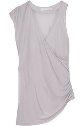 Kain Label Belle Draped Modal And Silk Blend Tank Lilac
