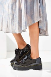 Dr. Martens Holly Patent Leather Platform Oxford Black