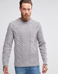 Levi's Cable Knit Jumper Novetex Flannel Grey