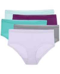 Fruit Of The Loom Everlight Stretch Low Rise 5 Pk. Brief 5Delpr Aquadelic Plum Noir Blue Pond Tiffany Silver W
