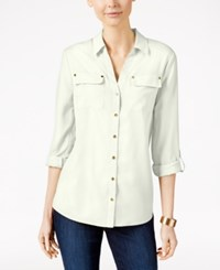 Charter Club Utility Shirt Only At Macy's Cloudy