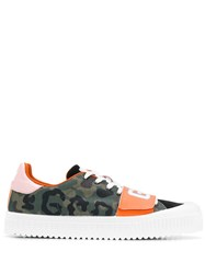 Gcds Camouflage Print Sneakers Green