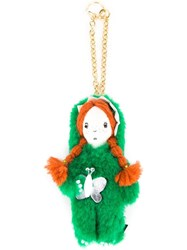 Muveil Girl In Fuzzy Suit Keyring Green