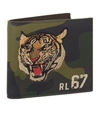 Ralph Lauren Embroidered Tiger Camouflage Wallet Green