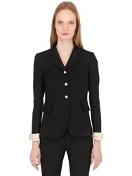 Gucci Single Breasted Cady Crepe Jacket