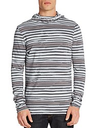 Rouge State Thick 'N' Thin Striped Hoodie Grey