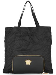 Versace Palazzo Medusa Tote With Detachable Clutch Black