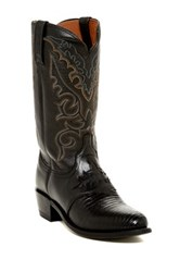 Lucchese Genuine Lizard And Leather Western Boot Multi