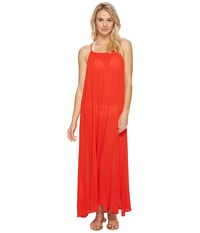 Echo Solid Maxi Beach Dress Rouge Women's Dress Red