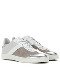 Tod's Leather And Suede Sneakers White