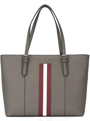Bally Stripe Detail Tote Nude Neutrals