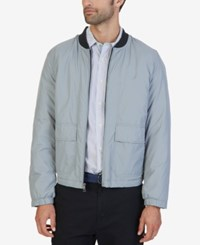 Nautica Men's Removable Hood Bomber Jacket Radial Grey