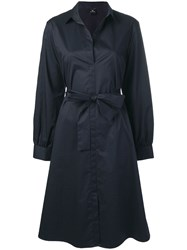 Paul Smith Ps Tie Waist Shirt Dress Blue