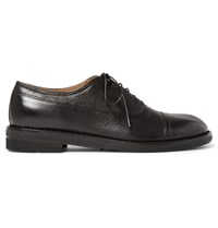 Maison Martin Margiela Grained Leather Oxford Shoes Black