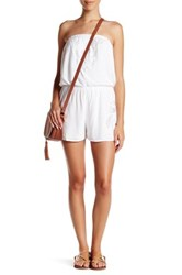 Romeo And Juliet Couture Strapless Cutout Romper White