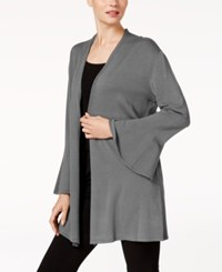 Alfani Bell Sleeve Cardigan Created For Macy's Stadium Grey