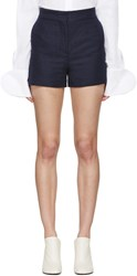 Acne Studios Navy Canvas Callie Shorts