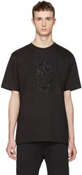 Markus Lupfer Black Beaded Skull T Shirt