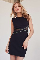 Silence And Noise Mesh Inset Muscle Tee Dress Black