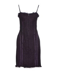 Angela Mele Milano Short Dresses Purple