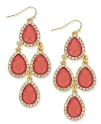 Inc International Concepts Teardrop Chandelier Earrings Only At Macy's Coral