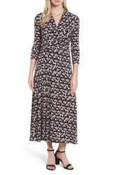 Chaus Women's Dot Print Midi Dress Rich Black