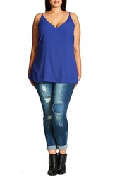 City Chic Plus Size Women's Double Layer V Neck Camisole Top