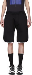 Neil Barrett Black And White Slouch Low Rise Basketball Shorts