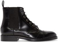 Valentino Black Butterfly Brogues