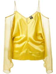 Jean Paul Gaultier Vintage Off Shoulder Blouse Yellow And Orange