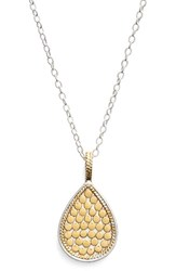 Anna Beck Women's 'Gili' Reversible Teardrop Pendant Necklace