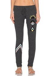Lauren Moshi Rosa Sunrise Leg Sweatpant Charcoal