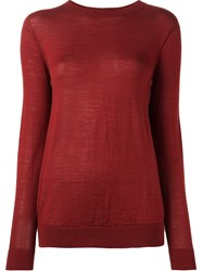Sofie D'hoore Crew Neck Sweater Red