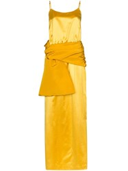Rosie Assoulin Sash Cami Maxi Dress Yellow