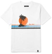 Rag And Bone Vacation Printed Cotton Jersey T Shirt White