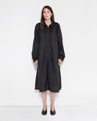Christophe Lemaire Pleated Overcoat Anthracite