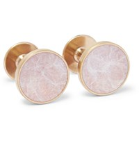Alice Made This Bayley Gold Tone Salmon Patina Cufflinks