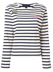 Marc Jacobs Breton Stripe T Shirt White