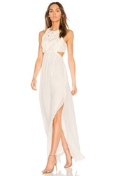 Ella Moss Valletta Cutout Maxi Dress Ivory