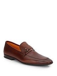 Saks Fifth Avenue By Magnanni Leather Loafers Brown