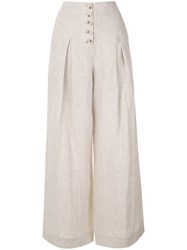 Suboo High Waisted Palazzo Pants Neutrals