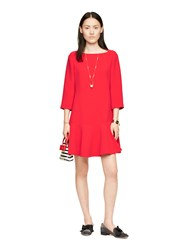 Kate Spade Crepe Flounce Dress