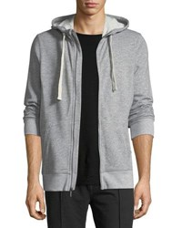 2Xist Heathered Knit Zip Front Sweatshirt Light Gray