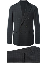 Dsquared2 Napoli Checked Two Piece Suit Grey