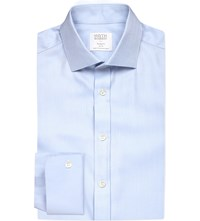 Smyth And Gibson Albany Cutaway Tailored Fit Cotton Shirt Sky