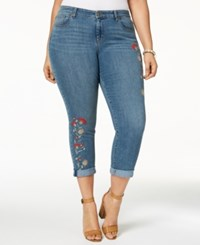 Styleandco. Style Co Plus Size Embroidered Skinny Jeans Created For Macy's Camino