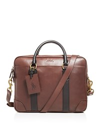 Ralph Lauren Polo Core Leather Commuter Bag Mahogany