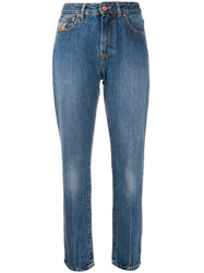 Vivienne Westwood Anglomania Graphic Print Skinny Jeans Blue