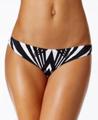 Bar Iii Prism Cheeky Hipster Bikini Bottoms Only At Macy's Women's Swimsuit Black White