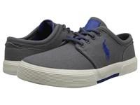 Polo Ralph Lauren Faxon Low Charcoal Grey Sapphire Star Canvas Men's Lace Up Casual Shoes Gray